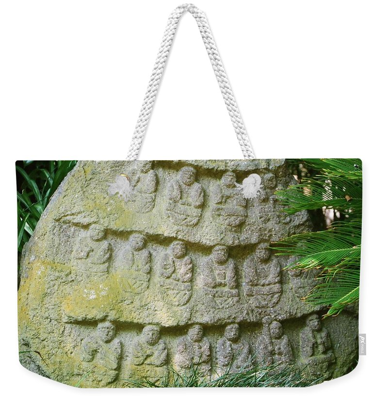 Stone Weekender Tote Bag featuring the photograph Sacred Stone by Dean Triolo