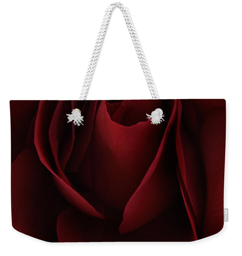 Rose Weekender Tote Bag featuring the photograph Sad Rose by Ann Garrett