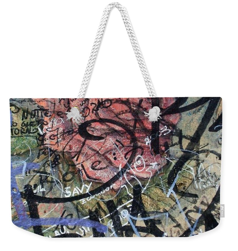 Sad Weekender Tote Bag featuring the photograph Sad Rose ... by Juergen Weiss