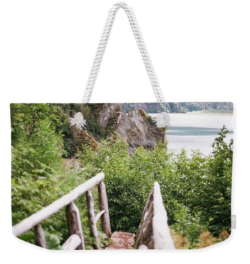 Saddle Trail Bridge Weekender Tote Bag featuring the photograph Saddle Trail Bridge by Kate Lamb