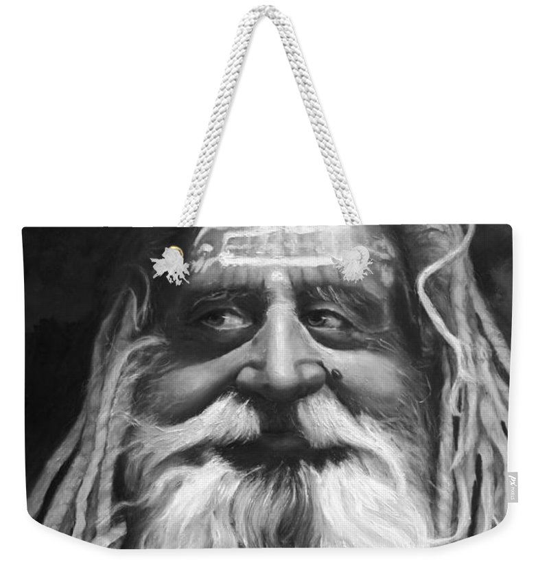 Sadhu Weekender Tote Bag featuring the painting Sadhu by Portraits By NC