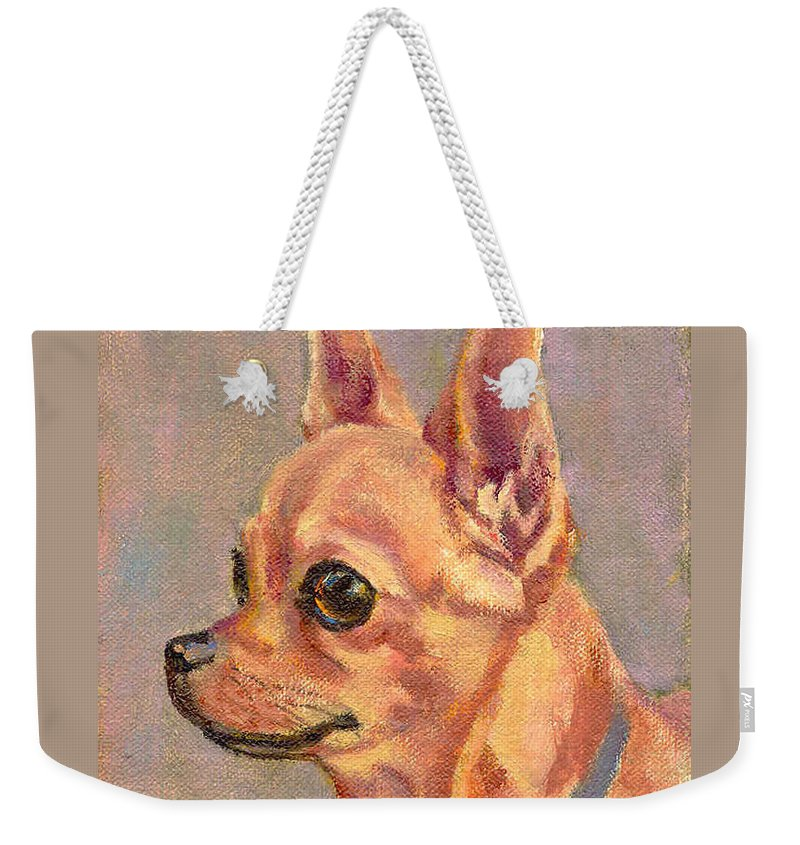 Realism Weekender Tote Bag featuring the painting Sadie by Keith Burgess