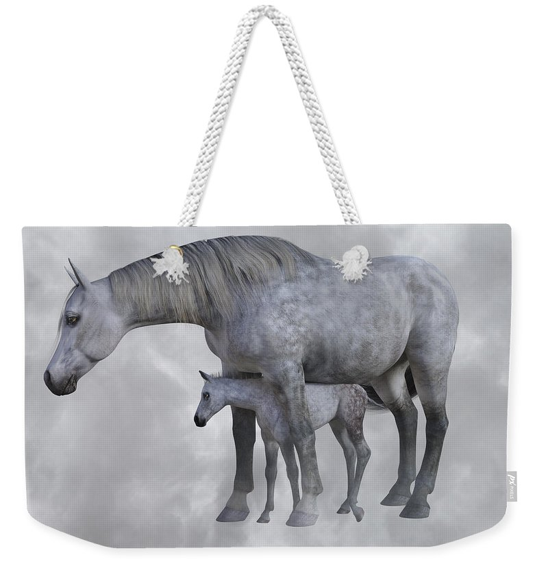 Horse Weekender Tote Bag featuring the digital art Safe Harbor by Betsy Knapp