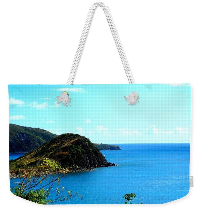 St Kitts Weekender Tote Bag featuring the photograph Safe Harbor by Ian MacDonald