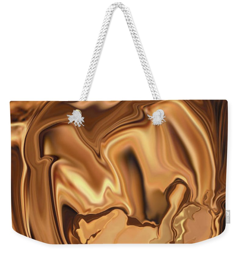 Abstract Weekender Tote Bag featuring the digital art Safe-in-her-arms by Rabi Khan