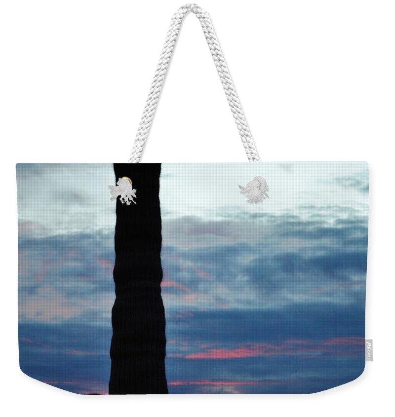 Saguaro National Park Weekender Tote Bag featuring the photograph Saguaro Sunset Portrait by Kyle Hanson