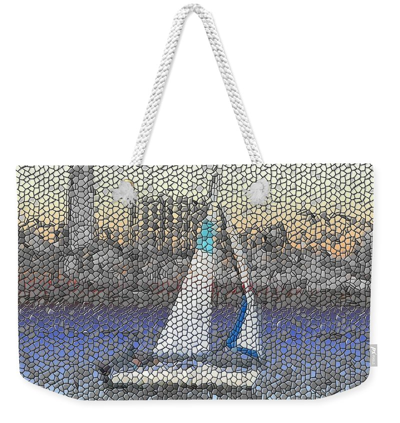 Sail Weekender Tote Bag featuring the photograph Sail At Sunset by Tim Allen