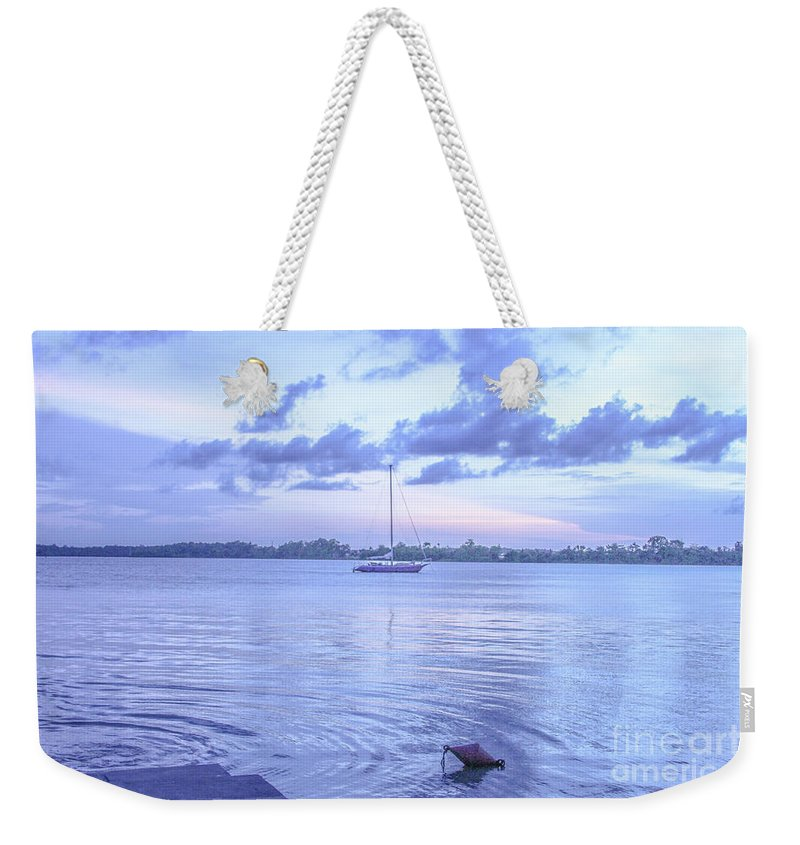 Devil's Island Weekender Tote Bag featuring the photograph Sail Away Devils Island by Carmin Wong