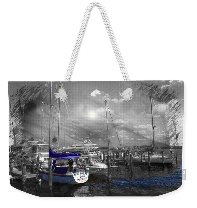 Sailboat Weekender Tote Bag featuring the photograph Sailboat Series 14 by Carlos Diaz
