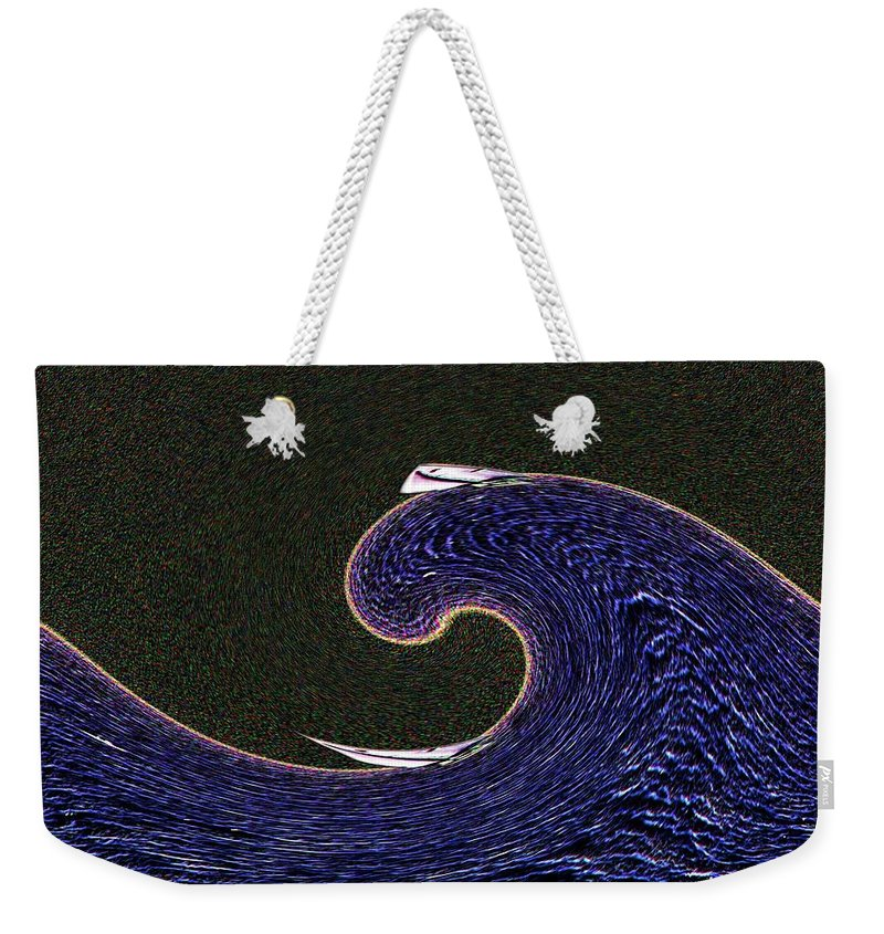 Sail Weekender Tote Bag featuring the digital art Sailin The Wave by Tim Allen