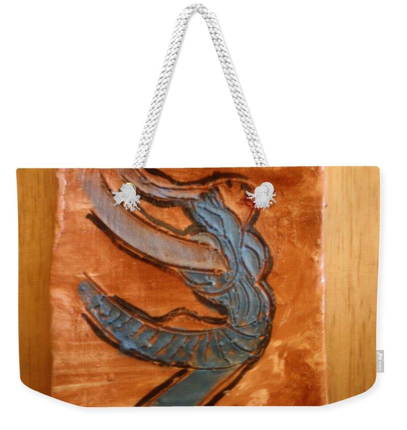 Jesus Weekender Tote Bag featuring the ceramic art Sailing - Tile by Gloria Ssali