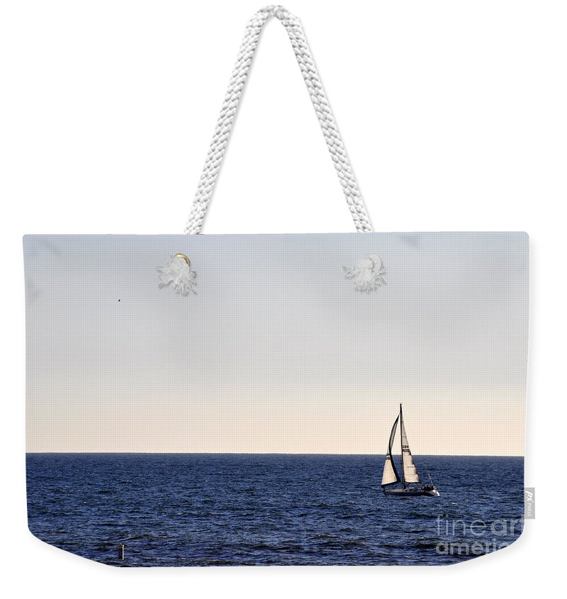 Clay Weekender Tote Bag featuring the photograph Sailing In Santa Monica II by Clayton Bruster