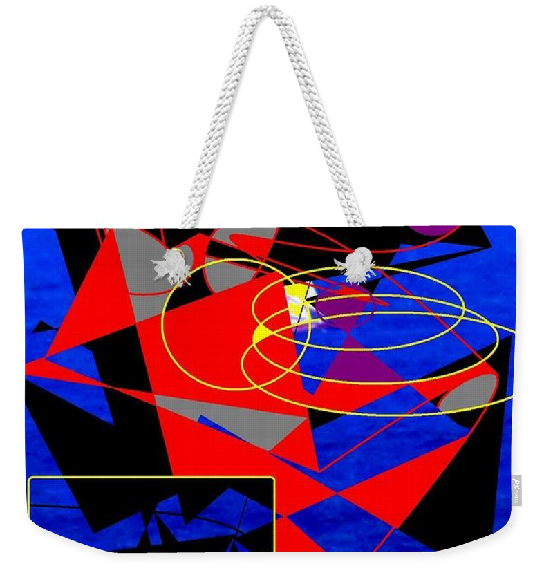 Abstract Weekender Tote Bag featuring the digital art Sailing On An Open Sea by Ian MacDonald