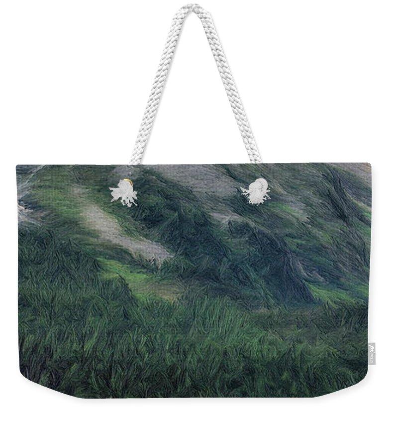 Sailing Weekender Tote Bag featuring the painting Sailing St Moritz by Jeffrey Kolker