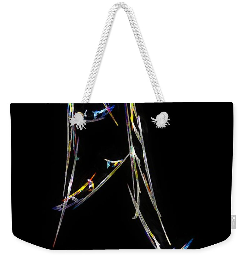 Abstract Weekender Tote Bag featuring the digital art Sailing The South China Sea by RC DeWinter