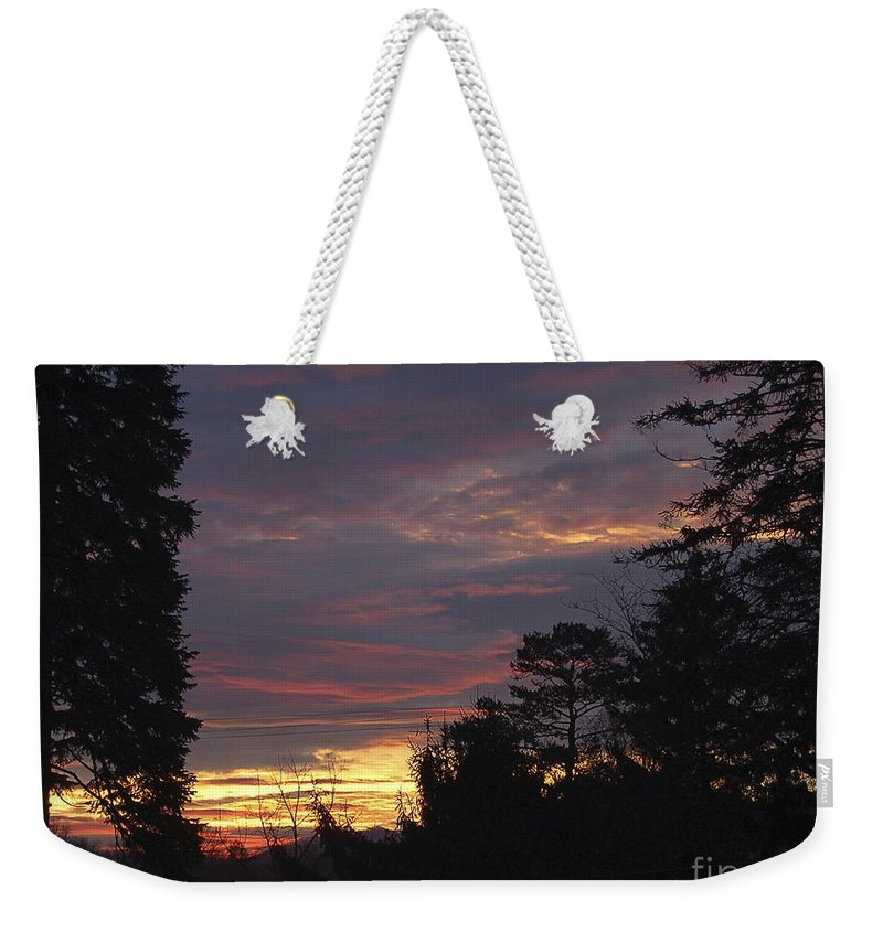 Living Room Weekender Tote Bag featuring the photograph Sailors Take Warning by Johnnie Stanfield