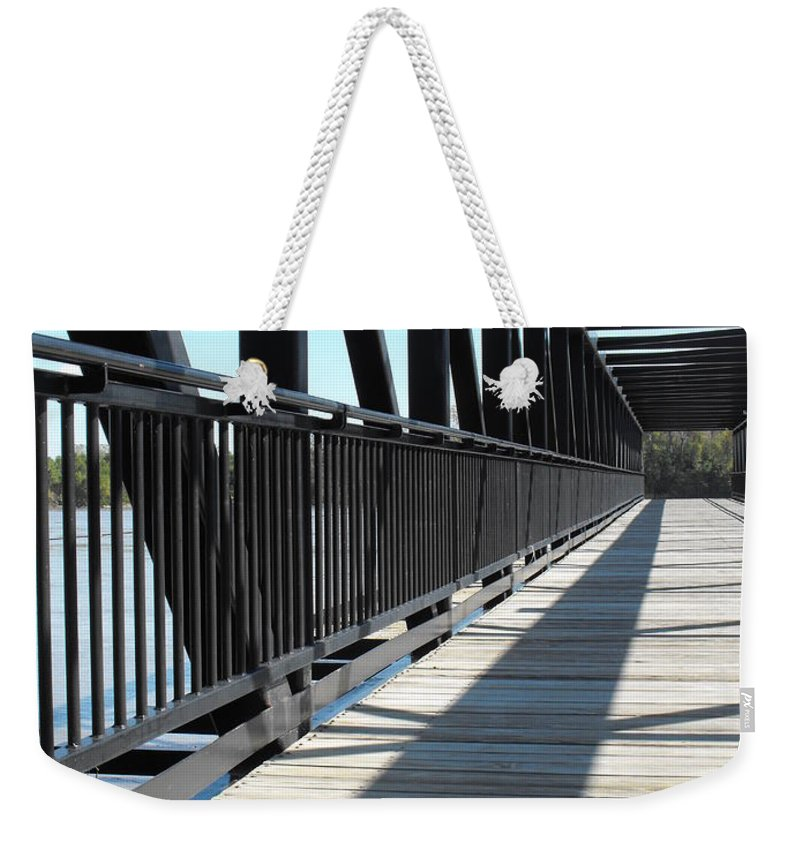 Saint Charles Walking Bridge Weekender Tote Bag featuring the photograph Saint Charles Walking Bridge by Ginger Repke