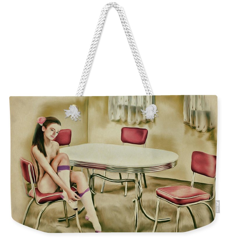 Salome Weekender Tote Bag featuring the painting Saint Louis - Asian American Series by Salome Hooper