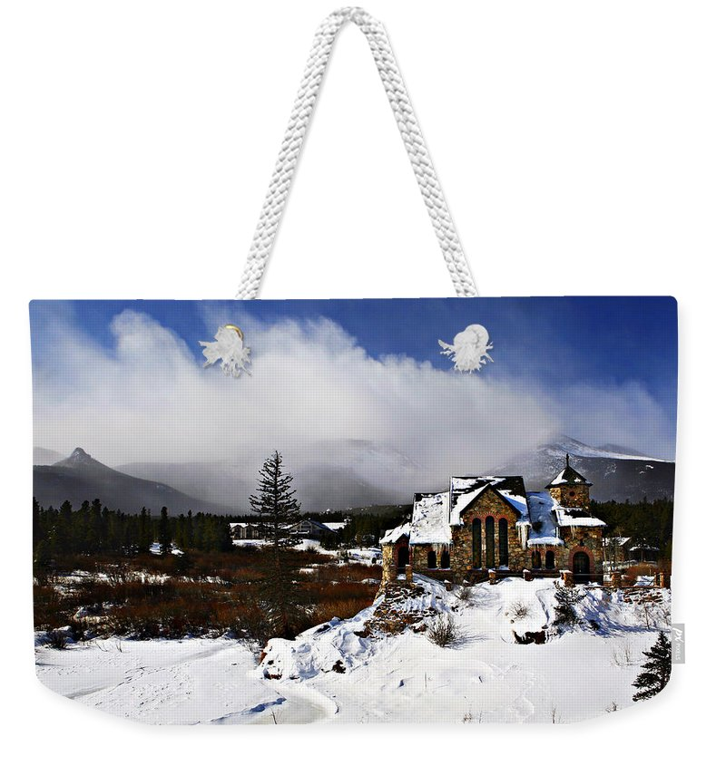 Church Weekender Tote Bag featuring the photograph Saint Malo Church Colorado by Marilyn Hunt
