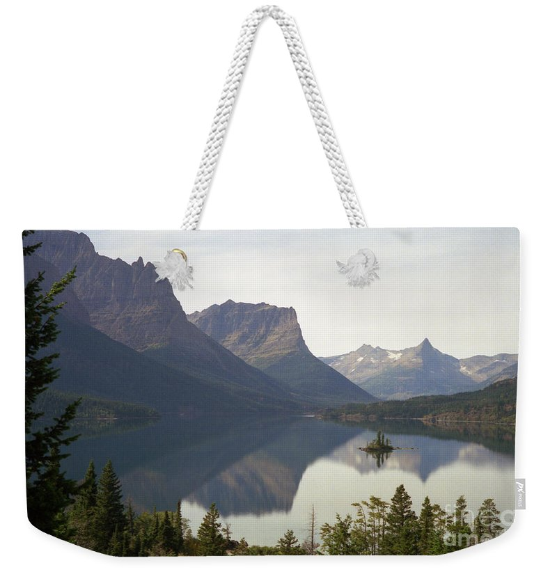 Lake Weekender Tote Bag featuring the photograph Saint Marys Lake by Richard Rizzo