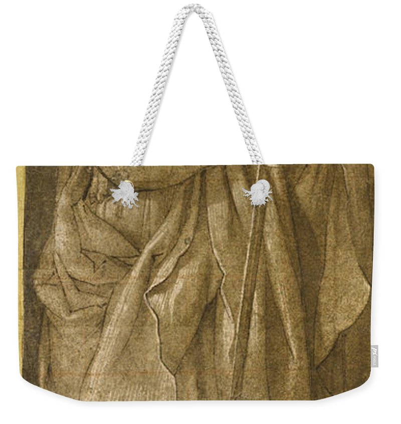 Giovanni Baglione Weekender Tote Bag featuring the drawing Saint Paul by Giovanni Baglione
