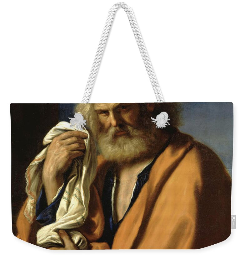 Guercino Weekender Tote Bag featuring the painting Saint Peter Penitent by Guercino