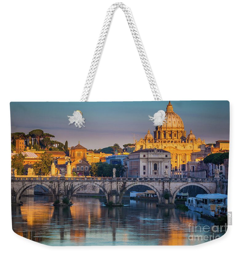 Christianity Weekender Tote Bag featuring the photograph Saint Peters Basilica by Inge Johnsson
