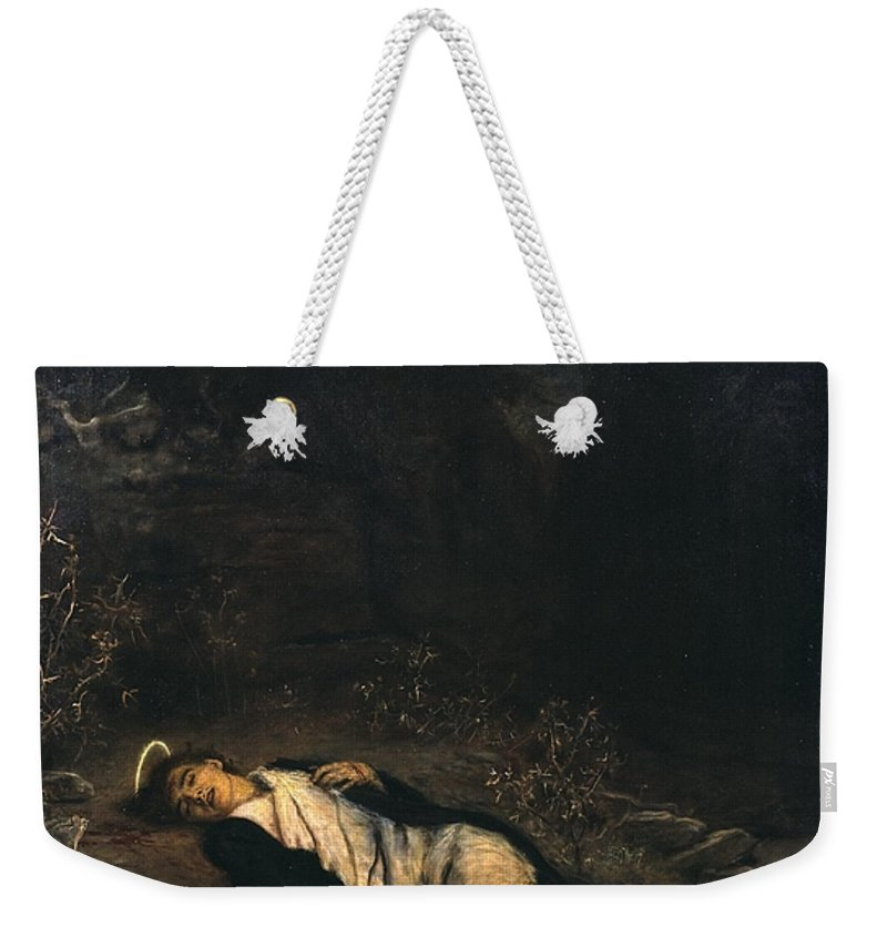 Sir John Everett Millais Weekender Tote Bag featuring the painting Saint Stephen by MotionAge Designs
