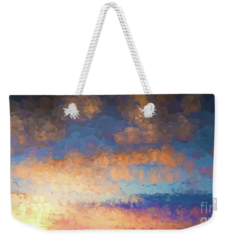 Sunset Weekender Tote Bag featuring the photograph Salamonie Sunset Abstract by Carl Saathoff