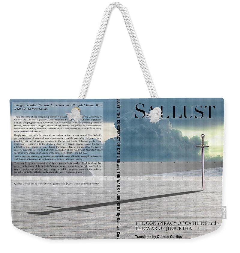 Quintus Curtius Weekender Tote Bag featuring the digital art Sallust Cover by Quintus Curtius