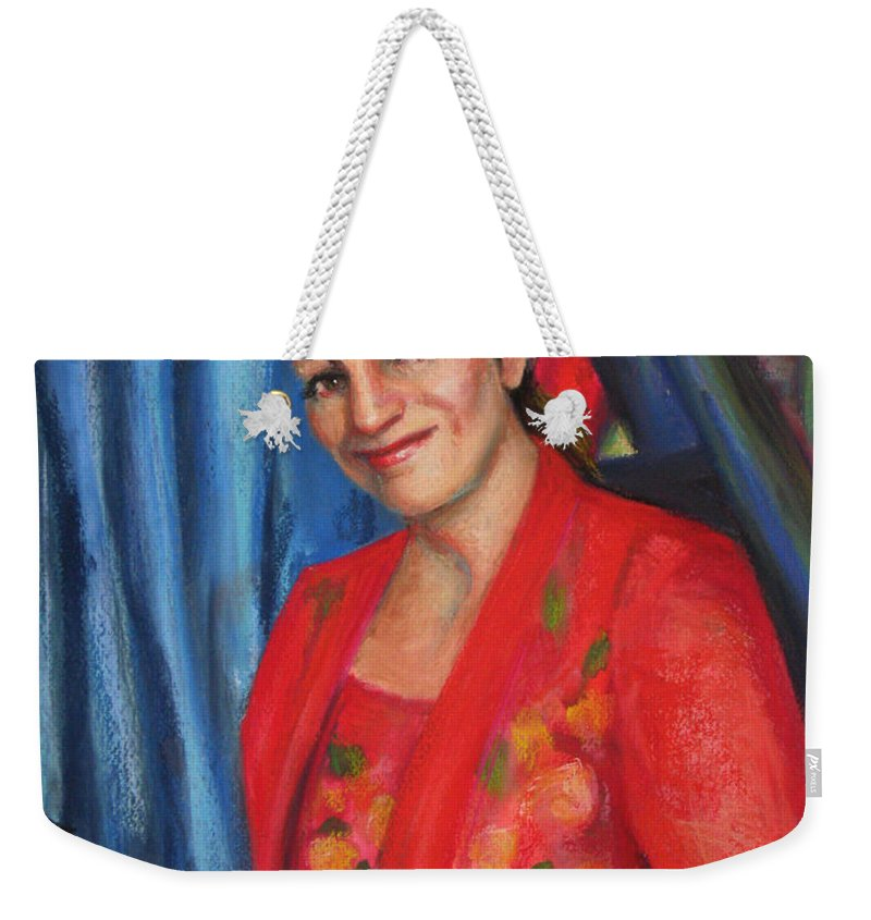 Musician Weekender Tote Bag featuring the painting Sally Ann by Beverly Boulet