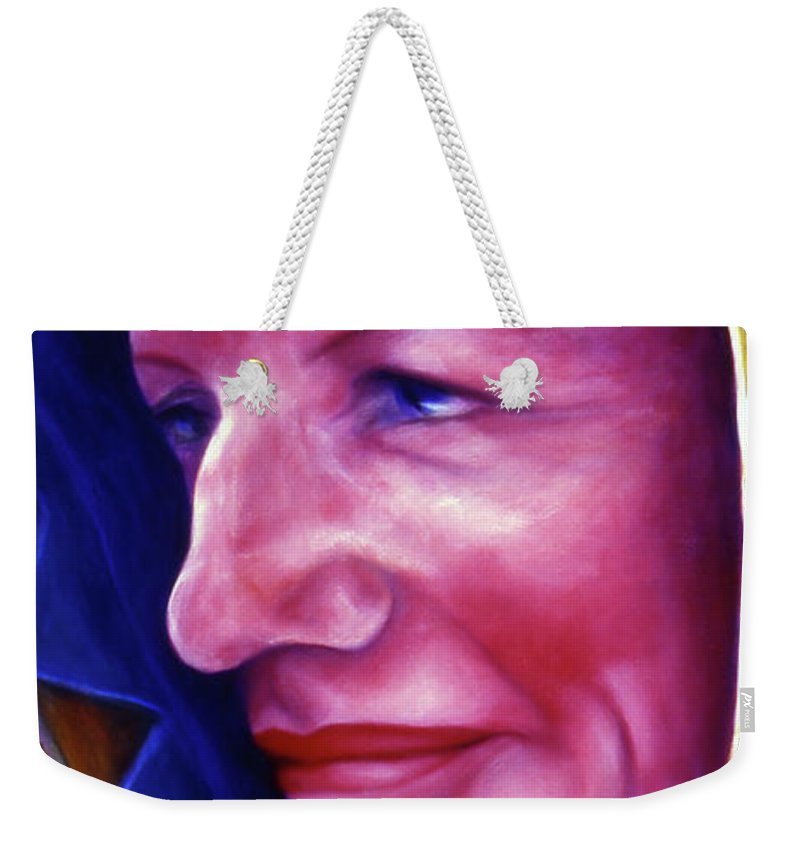 Woman Weekender Tote Bag featuring the painting Sally by Shannon Grissom
