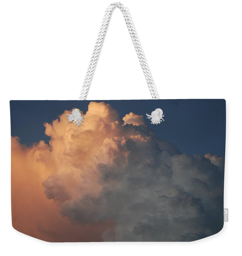 Clouds Weekender Tote Bag featuring the photograph Salmon Sky by Rob Hans