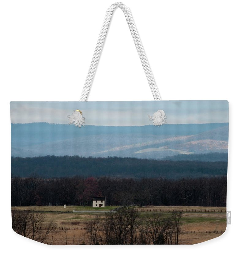 House Weekender Tote Bag featuring the photograph Salt Box House by David Arment