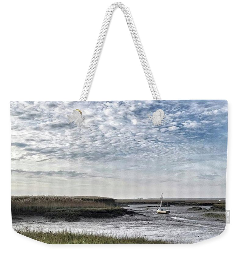 Beautiful Weekender Tote Bag featuring the photograph Salt Marsh And Creek, Brancaster by John Edwards