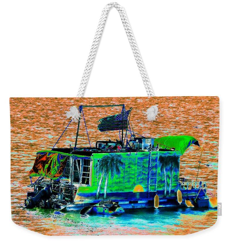 Art Weekender Tote Bag featuring the painting Salt Water Living by David Lee Thompson