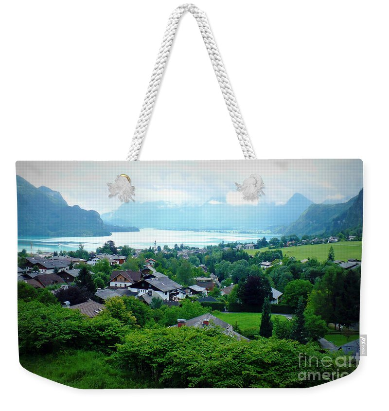 Austria Weekender Tote Bag featuring the photograph Salzburg Lake District by Carol Groenen