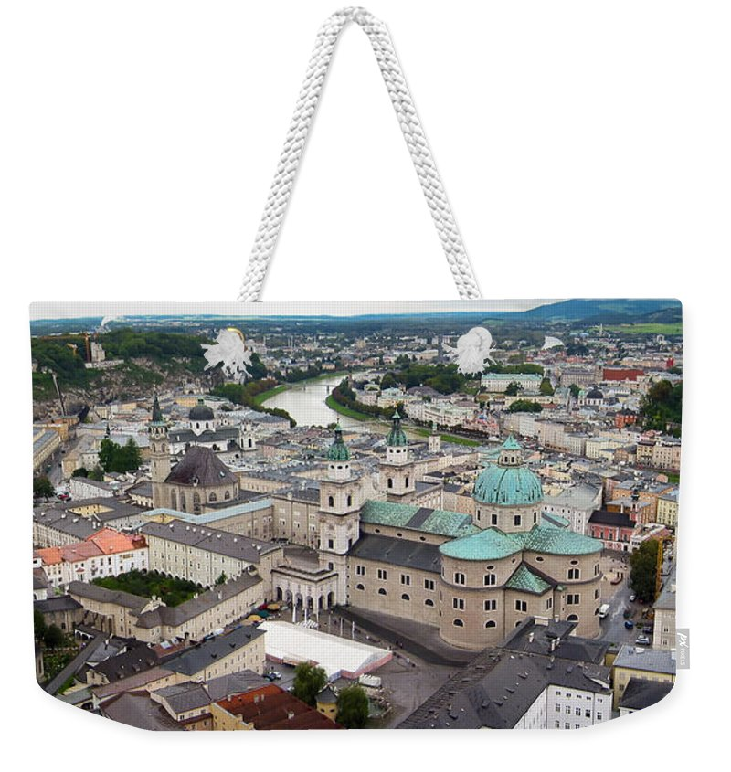 3scape Weekender Tote Bag featuring the photograph Salzburg Panoramic by Adam Romanowicz