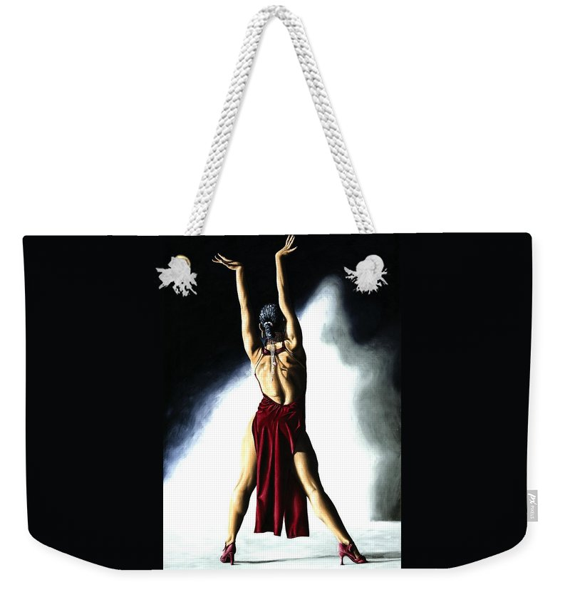 Samba Weekender Tote Bag featuring the painting Samba Celebration by Richard Young