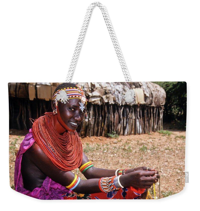 Africa Weekender Tote Bag featuring the photograph Samburu Beauty by Michele Burgess