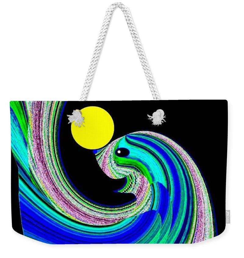 Seal Weekender Tote Bag featuring the digital art Sammy The Seal by Will Borden
