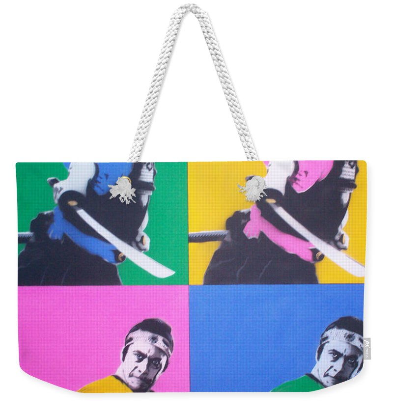 Samurai Weekender Tote Bag featuring the painting Samurai X 4 by Gary Hogben