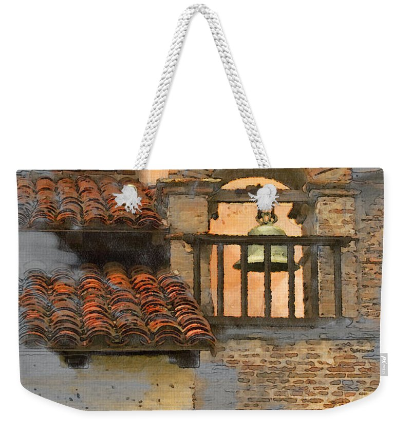 Architecture Weekender Tote Bag featuring the photograph San Antonio Bell by Sharon Foster