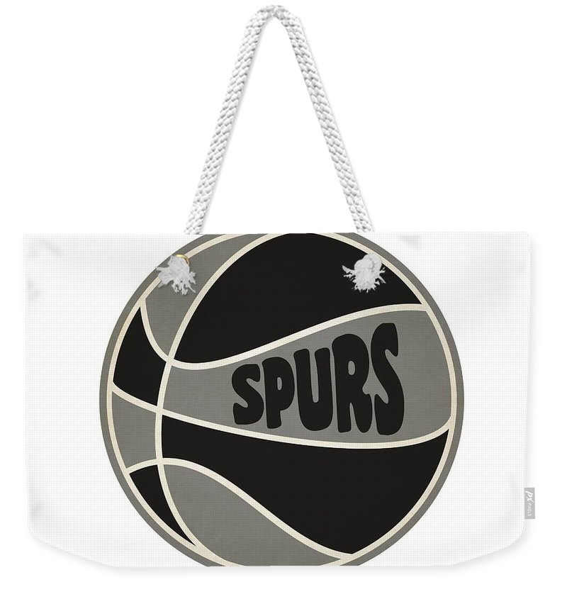 Spurs Weekender Tote Bag featuring the photograph San Antonio Spurs Retro Shirt by Joe Hamilton