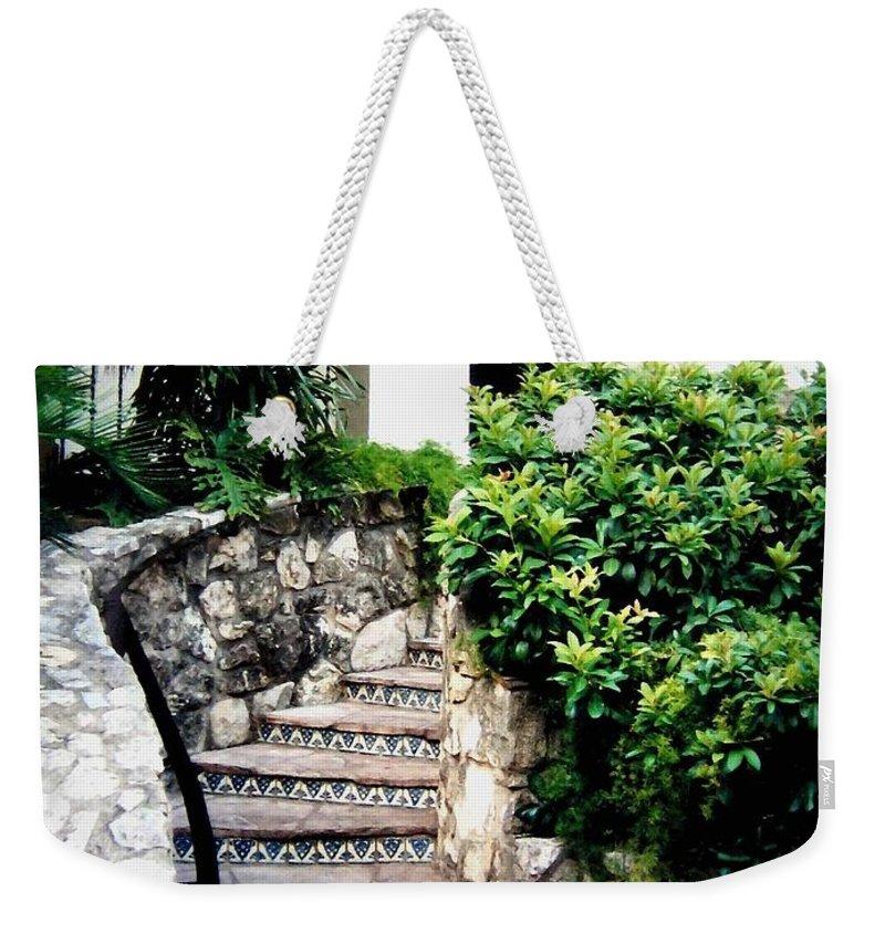 San Antonio Stairway Weekender Tote Bag featuring the photograph San Antonio Stairway by Will Borden