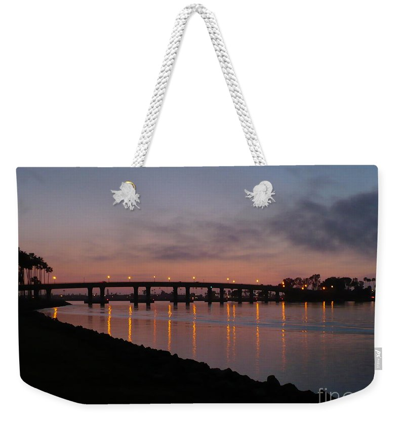 San Diego Weekender Tote Bag featuring the photograph San Diego Sunset 1 by Carol Groenen