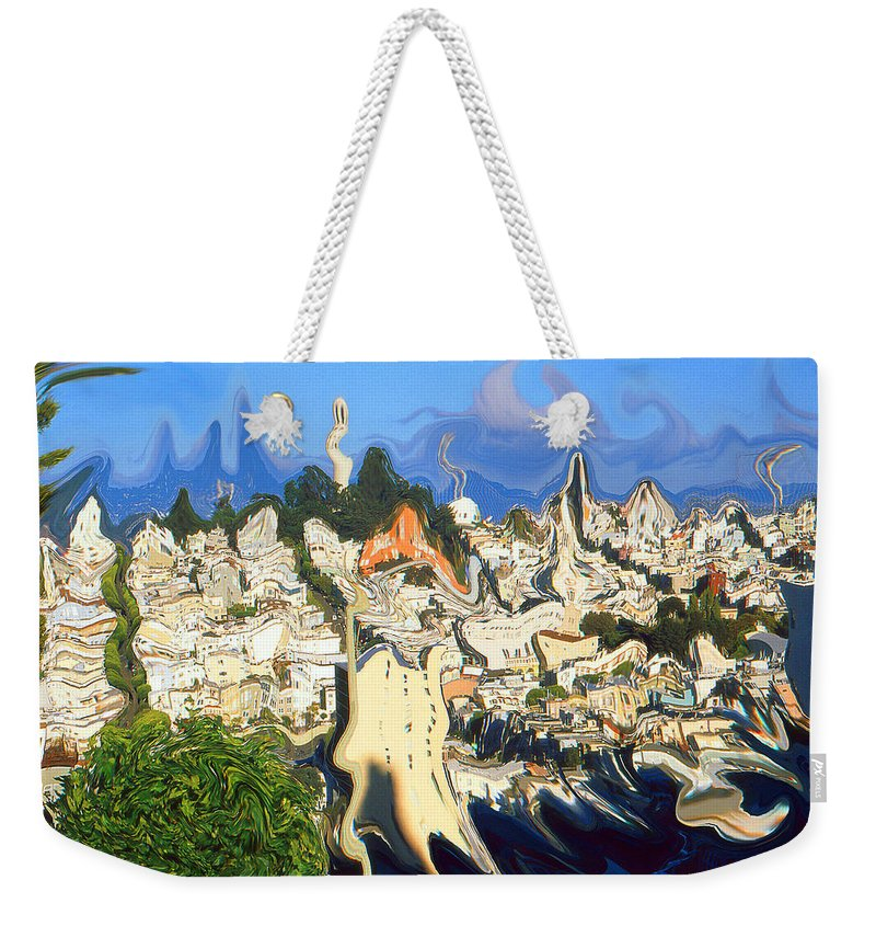 San+francisco Weekender Tote Bag featuring the painting San Francisco 1906 - Modern Art by Peter Potter