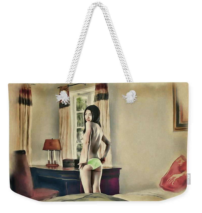 Salome Weekender Tote Bag featuring the painting San Francisco - Asian American Series by Salome Hooper