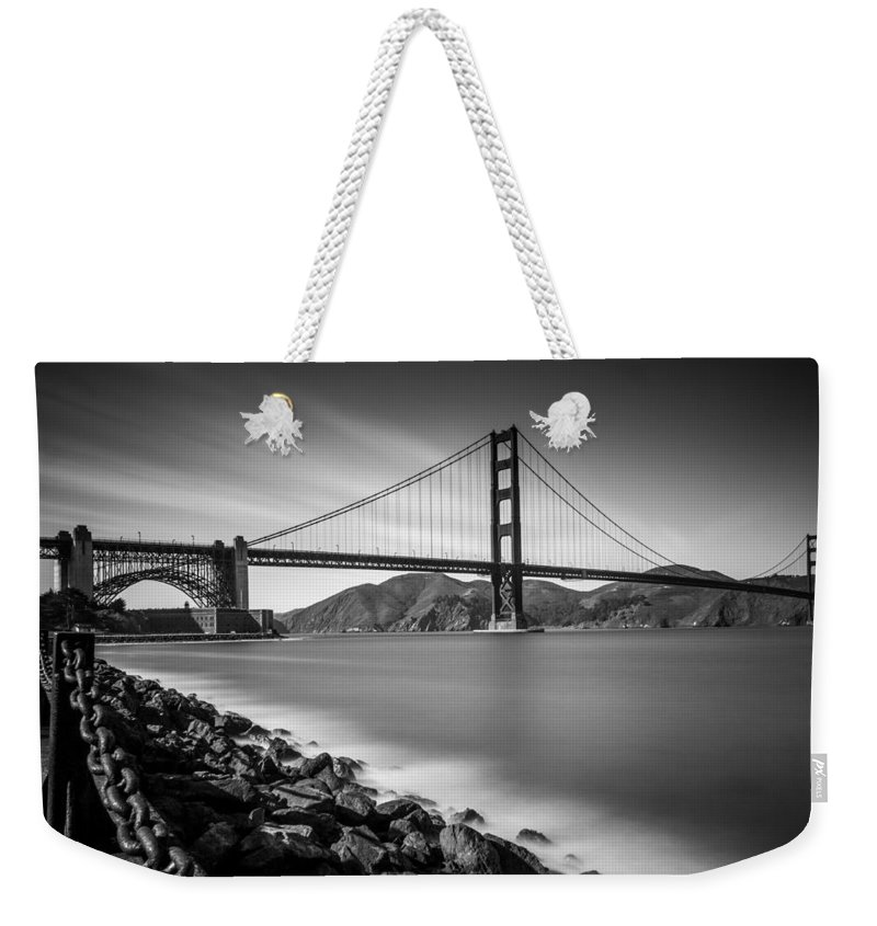 Golden Gate Bridge Weekender Tote Bag featuring the photograph San Francisco Golden Gate by Mike Burgquist