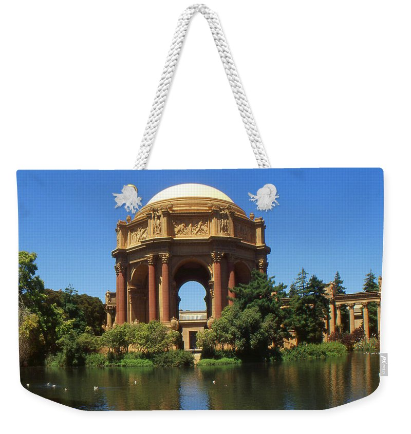 San+francisco Weekender Tote Bag featuring the photograph San Francisco - Palace Of Fine Arts by Peter Potter